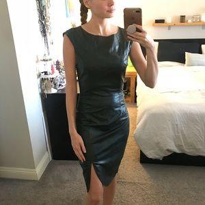 Faux leather bebe dress